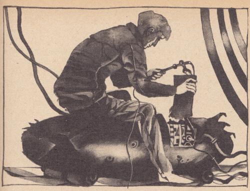 Karl Fischer Illustration zu Alarm im Tunnel Transterra