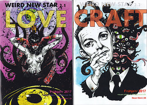 New Weird Star Love + Craft, Frühjahr 2017, Cover von Erlik R. Andara