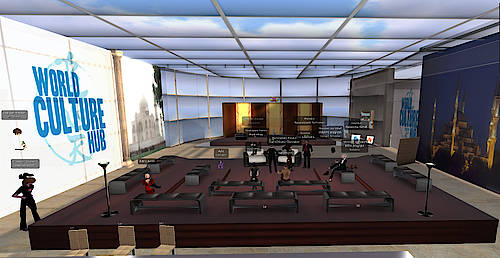 Lesung von Marc Späni im World Culture Hub in Second Life 2015