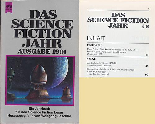 Die unwiderruflich letzte Rubrik in Heyne – Das Science Fiction Jahr 1991, Cover von Patrick Woodroffe