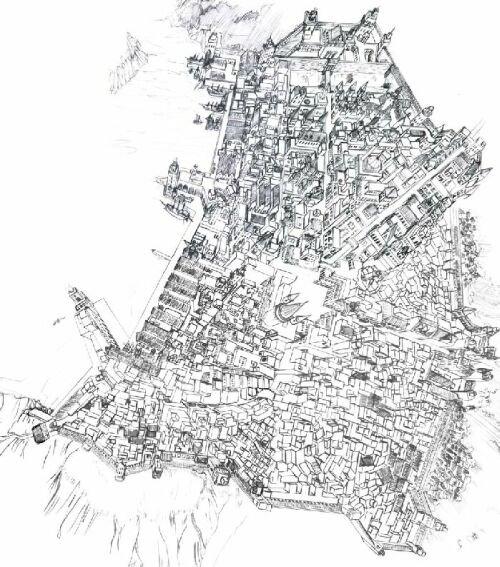 Chrissis Stadtplan für Saramee