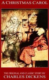 1843 erstamig veröffentlicht: Die weltberühmte Weihnachtsgeschichte von Charles Dickens (Buchcover)